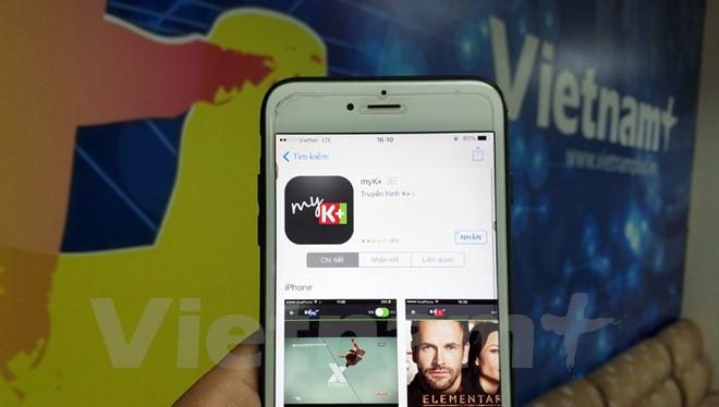 Ứng dụng OTT của K+ giúp người dùng xem giải đấu M-150 ở mọi nơi nếu có kết nối Internet. (Ảnh: T.H/Vietnam+)