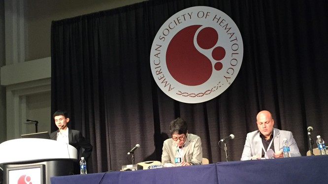 GS. Nguyễn Đăng Hùng trình bày tại hội nghị thường niên Hội huyết học Mỹ