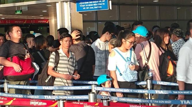 Khu vực kiểm tra an ninh ở sân bay (ảnh: Phan Tư)