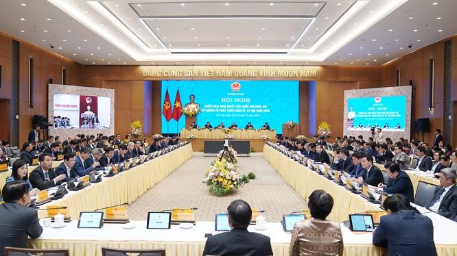 Cuộc họp của Chính phủ với các địa phương (ảnh: Quang Hiếu)