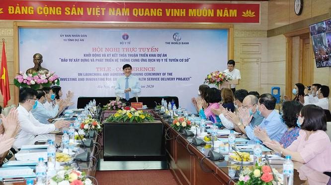 """Bộ Y tế khởi động dự án """"Đầu tư xây dựng và phát triển hệ thống cung cấp dịch vụ y tế tuyến cơ sở"""" với tổng vốn 126,25 triệu USD (ảnh: Trần Minh)"""