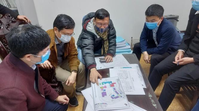 Chuẩn bị cho xây dựng bệnh viện dã chiến số 3 ở Hải Dương (ảnh: BYT)