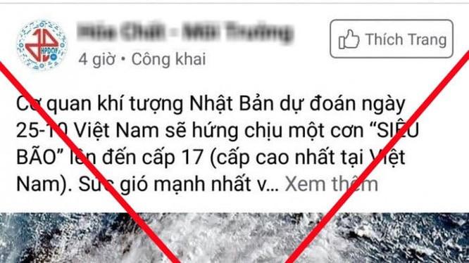 Tin giả về bão lũ miền Trung lan truyền khắp Facebook