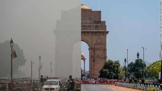 Việc hạn chế đi lại do Covid-19 khiến tình trạng ô nhiễm không khí ở các thành phố lớn giảm mạnh. Ảnh: CNN