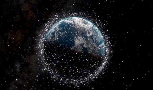 Mô tả rác vũ trụ trong quỹ đạo Trái Đất. Ảnh: Yahoo News