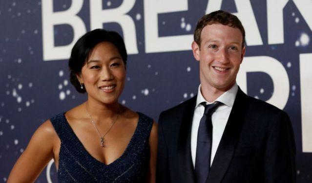CEO của Facebook Mark Zuckerberg và vợ - bà Priscilla Chan. (Ảnh: Reuters)