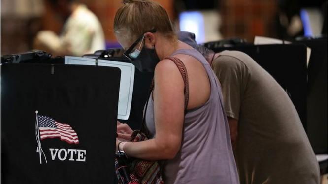 Hàng triệu người Mỹ đã đi bỏ phiếu sớm cho cuộc bầu cử Mỹ sắp tới. (Ảnh: BBC)