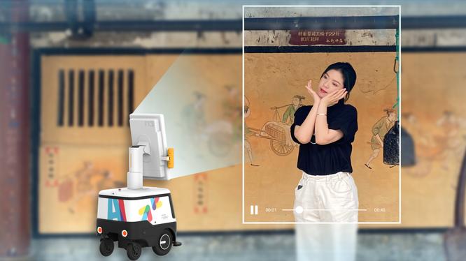 Robot của Xinhua Zhiyun có thể tự động nhận dạng mục tiêu, quay video ngắn, tải video lên đám mây theo thời gian thực và sản xuất nội dung vlog.