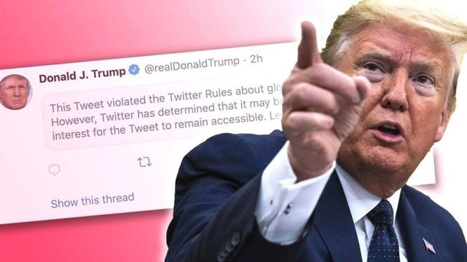 """Mặc dù kêu gọi người biểu tình """"về nhà"""" nhưng ông Trump đã nói thêm rằng ông yêu mến họ. Ảnh: BBC"""