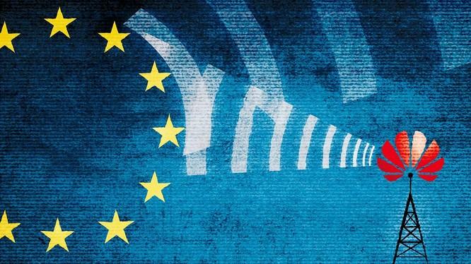 EU đã phải chịu áp lực rất lớn từ phía Tổng thống Mỹ Donald Trump trong việc cấm sử dụng thiết bị do Huawei sản xuất (ảnh: Nikkei Asian Review)