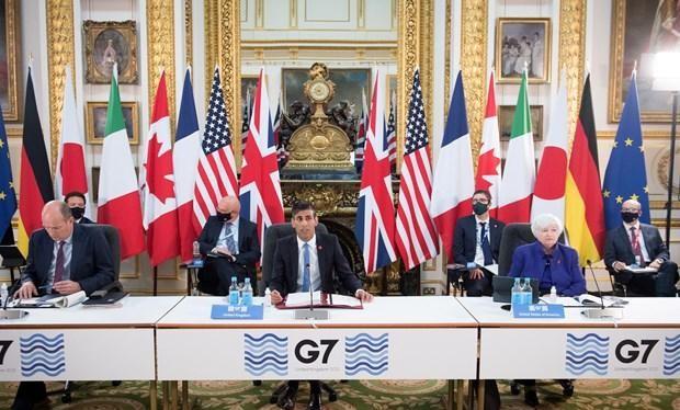 Hội nghị Bộ trưởng Tài chính G7 tại London, Anh, ngày 4/6/2021.
