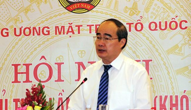 Ông Nguyễn Thiện Nhân, Ủy viên Bộ Chính trị, Chủ tịch Ủy ban Trung ương MTTQ Việt Nam chủ trì đã tổ chức Hội nghị lần 9 tại TP Đà Nẵng.