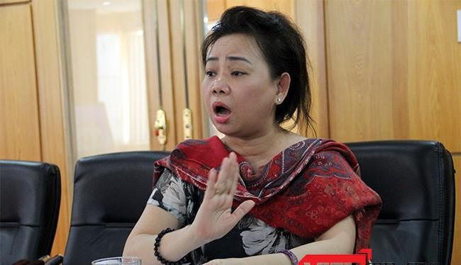 Bà Nguyễn Thị Chi, Tổng Giám đốc Công ty Cổ phần Đức Mạnh (đơn vị sở hữu tòa nhà Trung tâm thương mại Vĩnh Trung Plaza) nói về nguyên nhân dẫn đến maau thuẫn với Big C