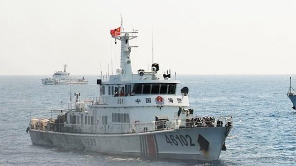 Tàu hải cảnh số hiệu 46102 của Trung Quốc nghi đâm chìm tàu cá ngư dân Quảng Ngãi