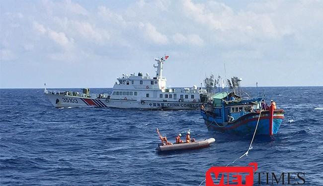 trong 6 tháng đầu năm, lực lượng này đã phát hiện 225 lượt tàu đánh cá Trung Quốc xâm phạm lãnh hải, tiến sâu vào khu vực Đông - Bắc Đà Nẵng chỉ từ 40-45 hải lý.