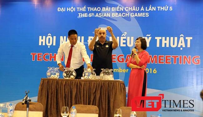Sáng 5/9, Ban tổ chức Đại hội thể thao châu Á 2016 (ABG 5) cho biết trong khuôn khổ Hội nghị chuyên môn kỹ thuật thi đấu và Lễ bốc thăm các môn thi đấu