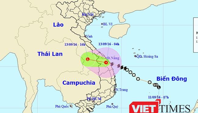 Bão số 4 đã đi vào đất liền khu vực giáp ranh tỉnh Quảng Nam và Quảng Ngãi rồi suy yếu thành áp thấp nhiệt đới.