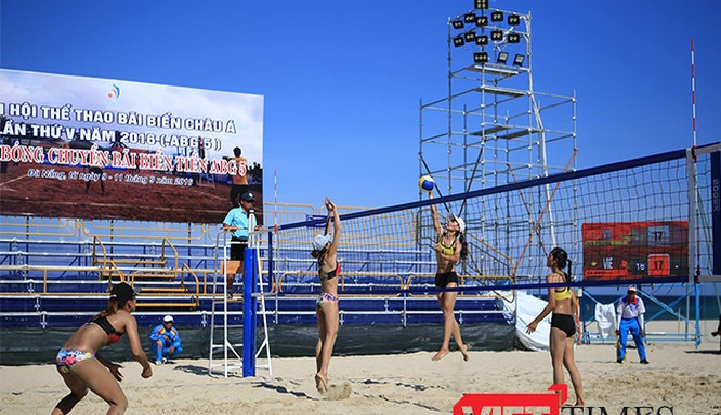 Đà Nẵng đã sẵn sàng cho sự kiện Đại hội thể thao bãi biển châu Á lần thứ 5 diễn ra tốt đẹp (ảnh: Tường Lân)