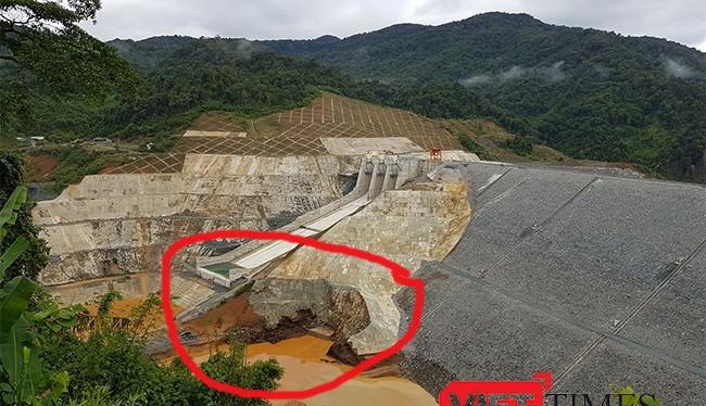 Thủy điện Sông Bung 2 và vị trí xảy ra sự cố vỡ cửa hầm dẫn dòng