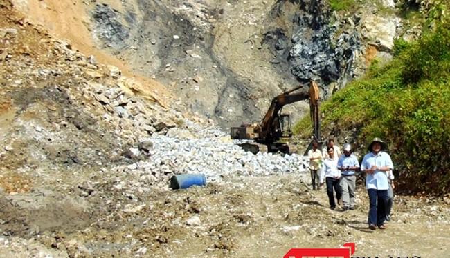 Khu vực khảo sát xây dựng nhà máy thép Việt Pháp tại thôn Hoa, thị trấn Thạnh Mỹ, huyện nam Giang, tỉnh Quảng Nam