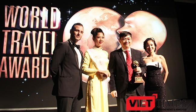 """Tối 15/10, TP.Đà Nẵng đã được ban tổ chức Ban tổ chức lễ trao giải thưởng du lịch Thế giới World Travel Awards (WTA) vinh danh trong hạng mục """"Điểm đến sự kiện lễ hội hàng đầu châu Á""""."""