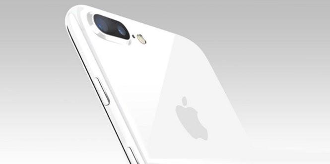 Ảnh đồ hoạ phiên bản Trắng bóng (Jet White) của iPhone 7 được báo Nhật đăng tải - Ảnh: Mac Otakara