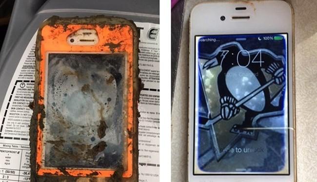 Chiếc iPhone 4 sống sót thần kỳ sau 18 tháng ngâm dưới hồ nước