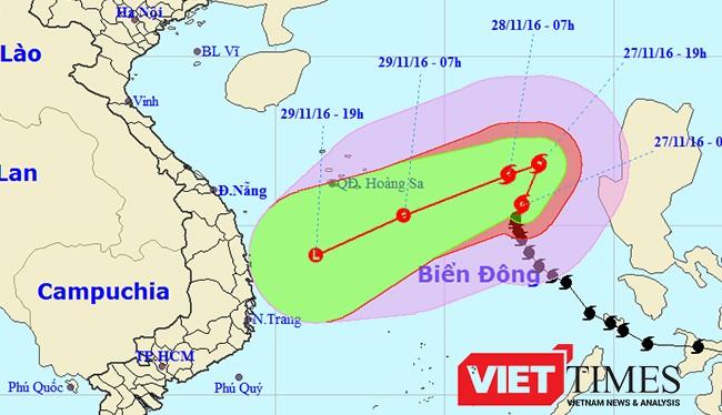 Bão số 9 đang hướng mưa lớn đổ bộ Đà Nẵng-Khánh Hoà