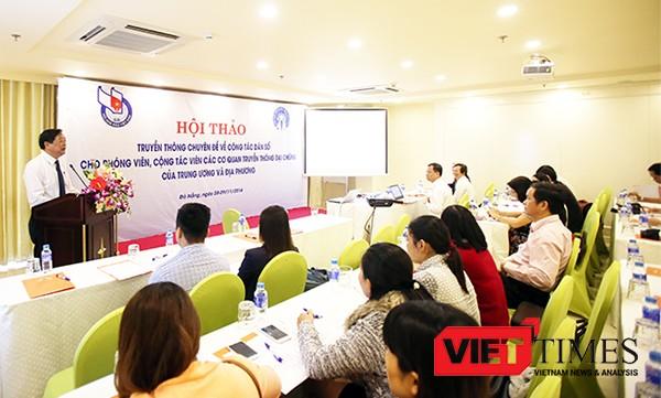 Nhà báo Mai Đức Lộc, Phó Chủ tịch Hội Nhà báo Việt Nam, Chủ tịch Hội nhà báo TP Đà Nẵng chia sẻ tại buổi tập huấn