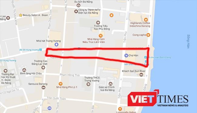 Khu vực quy hoạch Quảng trường trung tâm TP Đà Nẵng