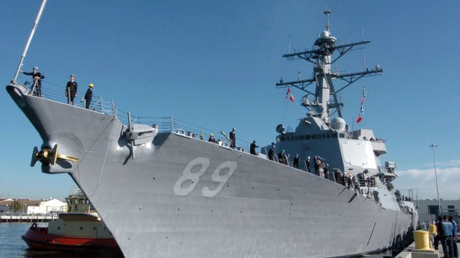 Chiến hạm tên lửa dẫn đường USS Mustin của Hải quân Mỹ