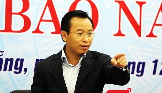 Bí thư Thành ủy Đà Nẵng Nguyễn Xuân Anh tại buổi họp báo