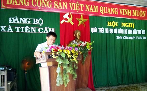 """Chủ tịch xã Tiên Cẩm (huyện Tiên Phước, Quảng Nam) xin """"từ quan"""" đã trở lại nhiệm sở"""