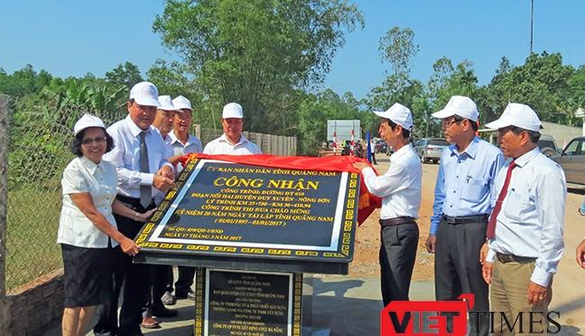 Ngày 23/3, UBND tỉnh Quảng Nam đã tổ chức lễ gắn biển, đưa vào sử dụng tuyến đường ĐT610 nối Di sản Mỹ Sơn với Nông Sơn, thúc đẩy phát triển giao thông trên tuyến chiến lược giữa huyện Duy Xuyên và huyện Nông Sơn (tỉnh Quảng Nam).