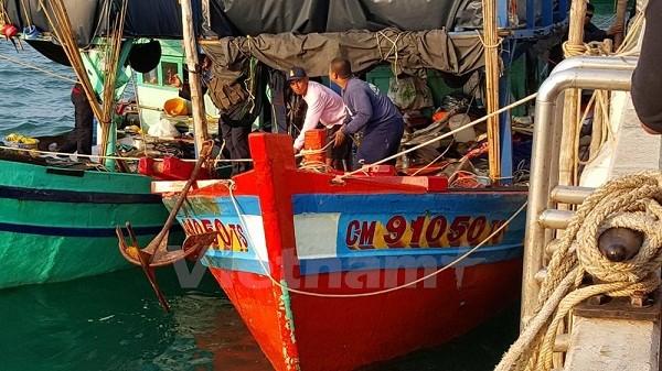 Tàu cá của ngư dân Việt Nam bị Malaysia bắt giữ (ảnh vietnam+)