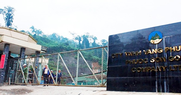 Quảng Nam mở thủ tục phá sản đối với Công ty vàng Phước Sơn