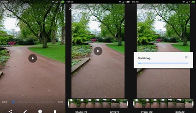 Phiên bản mới nhất ứng dụng của Google Photos sẽ cho phép người dùng loại bỏ đáng kể những rung động ngoài ý muốn trong video chỉ với một nút nhấn.