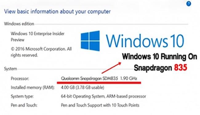Microsoft đang thúc đẩy việc đưa hệ điều hành Windows 10 bản đầy đủ lên các máy tính dùng bộ xử lý ARM 64-bit của Qualcomm