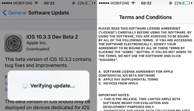 Apple vừa chính thức tung ra bản cập nhật iOS 10.3.3 Beta 2 nhằm cải thiện hiệu suất thiết bị và sửa các lỗi còn tồn đọng trước đó.