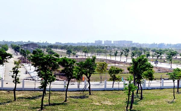 Một góc Dự án Khu đô thị Golden Hills tại phường Hòa Hiệp (quận Liên Chiểu) do Công ty Cổ phần Trung Nam đầu tư chưa nộp tiền sử dụng đất