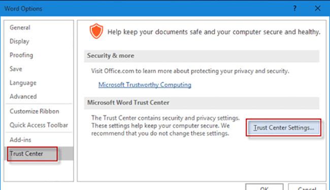 Hãy mở Microsoft Office, bấm vào biểu tượng chương trình để cài đặt ngăn chặn