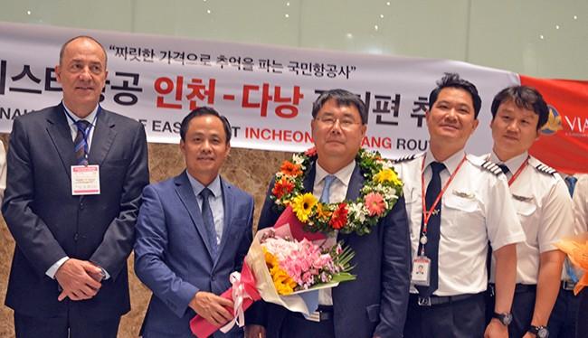 Từ 14/6, hãng hàng không Eastar Jet (Hàn Quốc) sẽ mở thêm đường bay trực tiếp từ Đà Nẵng (Việt Nam) đi Incheon (Hàn Quốc) với tần suất 7 chuyến/tuần.