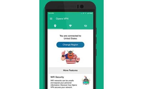 người dùng chỉ cần nhấn Turn On để kích hoạt chế độ VPN tại www.opera.com/vi/ apps/vpn để tăng tốc WiFi khi cáp quang gặp sự cố