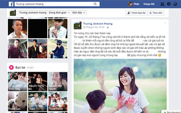 Nội dung trang facebook cá nhân đăng tải thông tin thất thiệt về Lễ hội sờ ngực diễn ra tại Đà Nẵng