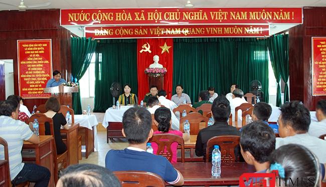 Ngày 2/8, UBND quận Sơn Trà cùng Sở NN và PTNT Đà Nẵng, Bộ chỉ huy Bộ đội Biên phòng Đà Nẵng tổ chức cuộc đối thoại với các ngư dân đang neo đậu thuyền tại khu vực Dự án Bến Du thuyền Marina complex Da Nang