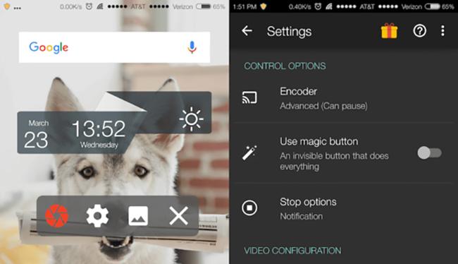 AZ Screen Recorder hay Rec đều là những ứng dụng cho phép người dùng quay phim màn hình trên smartphone mà không cần root hoặc Jailbreak.
