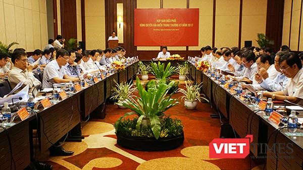 Chiều 24/9, tại TP Đà Nẵng, Ban Điều phối Vùng Duyên hải miền Trung đã tổ chức họp thường kỳ Ban Điều phối năm 2017 với sự tham dự của lãnh đạo 9 tỉnh thành khu vực.