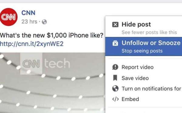 """Vừa qua Facebook đã âm thầm bổ sung tính năng Snooze, cho phép người dùng tạm thời """"nghỉ chơi"""" với bạn bè."""