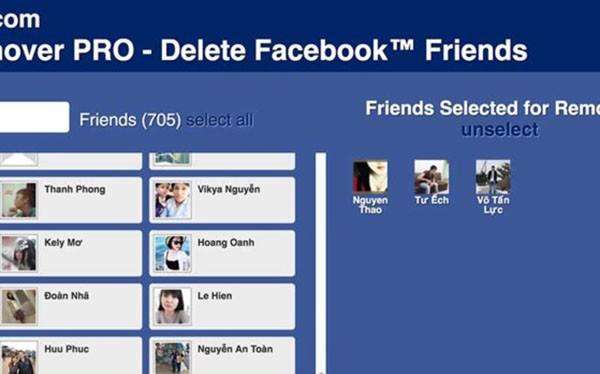 Đầu tiên bạn cần cài đặt tiện ích Friend Remover PRO