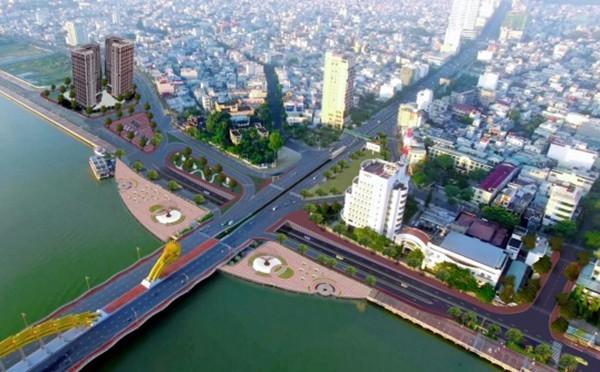 Phối cảnh một phương án cải tạo nút giao thông phía Tây cầu Rồng (ảnh danang.gov)